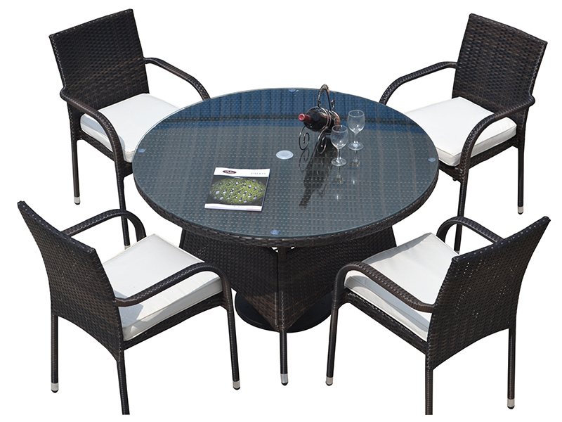 2019 newest outdoor rattan dining sets